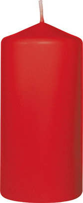 Candele pillar 100x50 mm Rosso- 20 ore